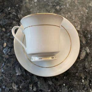 Lynn's fine china espresso and saucer set of 6